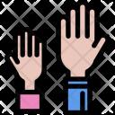 Raised Hands School Icon