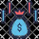 Crowdfunding Funds Raising Money Growth Icon
