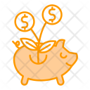 Raising Funds Market Icon