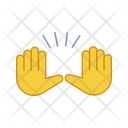 Raising Hands Gesture Icon