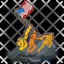 Raising The Flag On Iwo Jima Usa Flag Iwo Jima Icon