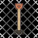 Rake Tool Gardening Icon