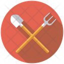 Rake Showel Gardening Rake Icon