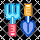 Hand Rake Shovel Icon