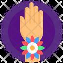 Rakhi On Hand Rakhi Band Rakhi Armband Icon