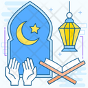 Ramadan Muslim Festival Fasting Event Icon