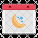 Ramadan Calendar Timetable Icon