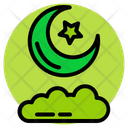 Ramadan Moon Cloud Icon