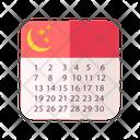 Ramadan Calendar Calendar Religion Icon