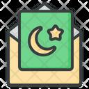 Ramadan Greeting Card Icon