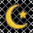 Ramadhan Moon Star Icon