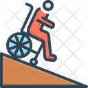 Ramp Handicap Wheelchair Icon
