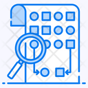 Random Sampling Data Combination Data Examination Icon