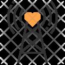 Range Signal Heart Icon