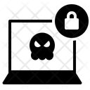 Ransomware Hacker Lock Icon