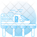 Rapid Transit Electric Train Tram Icon