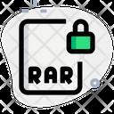 Rar File Lock Icon