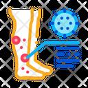 Rash Dermatitis Legs Icon