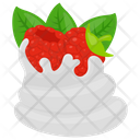Raspberries Tart Raspberry Whip Whipped Cream Icon