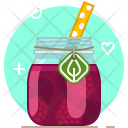Raspberry Smoothie Drink Icon