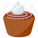Raspberry Chocolate Cupcake Icon