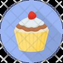 Raspberry Cupcake Icon
