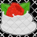 Raspberry Tart Raspberry Whip Whipped Cream Icon