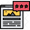 Rating Star Article Icon