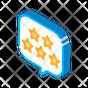 Five Stars Text Icon