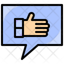 Finger Gestures Like Icon