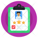Employee Performance Report Rating Report Feedback Report Icon