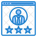 Rating To Businessman Icon