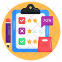 Review Report Ratings Report Shopping Feedback Icon