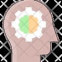 Rational Thinking Brain Brainstorming Icon