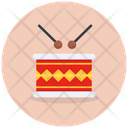 Rattle And Drum Drum Musical Instrument Icon