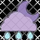 Night Rainy Rain Moon Icon