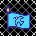 Viking Flag Country Icon