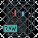 Raw Data Chart Documents Icon