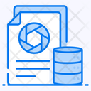 Raw Data Dataset Data Storage Icon