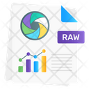 Raw Data Data File Business Document Icon