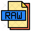 Raw File File Type Icon