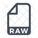 Raw File Document Icon