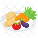 Raw Vegetables Platter Icon