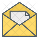 Read Mail Open Mail Document Mail Icon