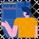 Read Newspaper Newspaper News Icon