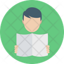 Reader Learner Studying Icon
