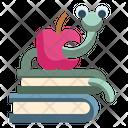 Bookworm Apple Education Icon