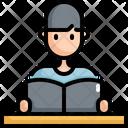Reading Man Book Icon