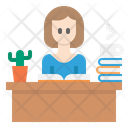 Reading Book Work Icon