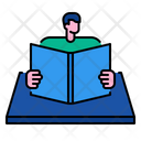 Reading Book Library Icon